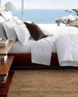 Biała poszewka na poduszkę Glen Plaid