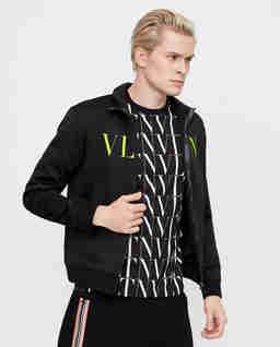 Czarna rozpinana bluza VLTN