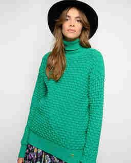 Zielony sweter z logo Nuvolosita