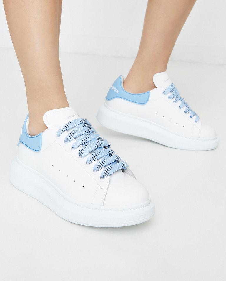 Białe sneakersy ze skóry Alexander McQueen