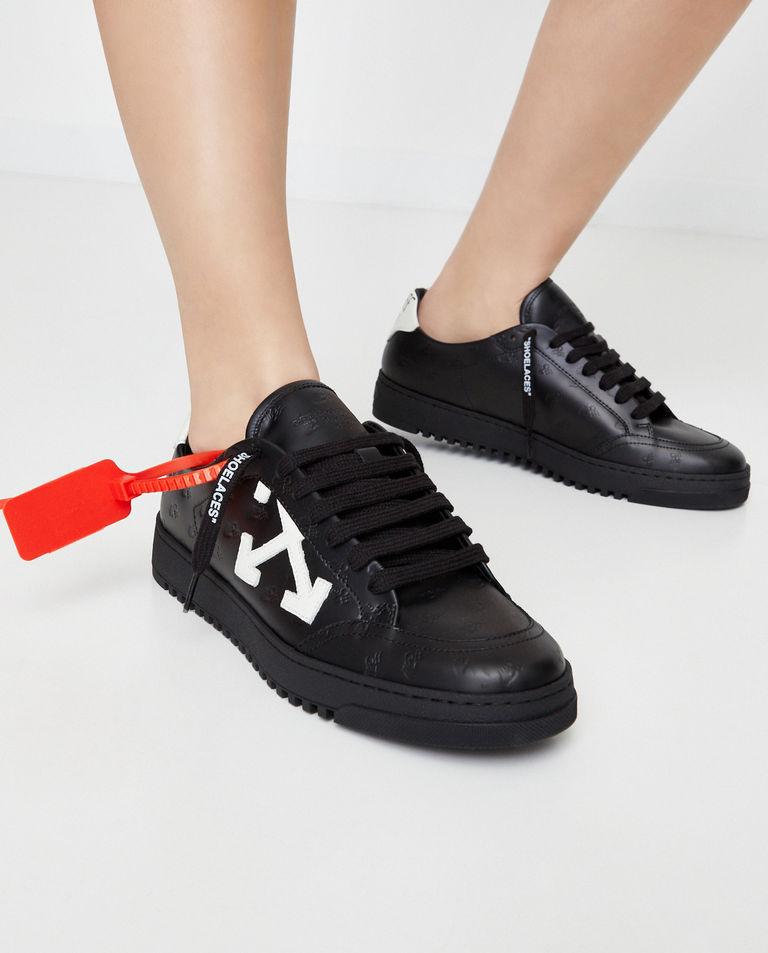 Skórzane sneakersy z tłoczonym logo Off-White