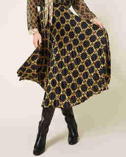 Czarna spódnica plisowana midi