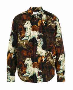 Bawełniana koszula z nadrukiem