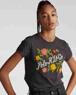 Bawełniana koszulka z haftowanym logo
