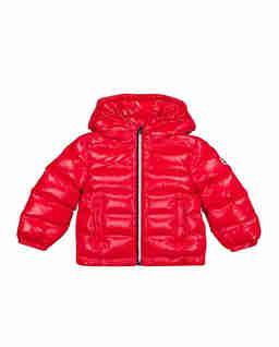 Czerwona kurtka puchowa Aubert 0-3 lat