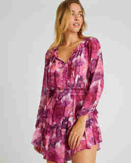 Różowa sukienka Popover