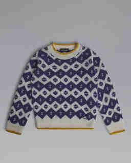 Wełniany sweter ze wzorem 6-10 lat