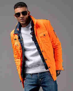 Pomarańczowa kurtka pikowana Hunter 1