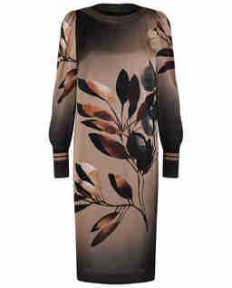 Sukienka z błyszczącymi wykończeniami