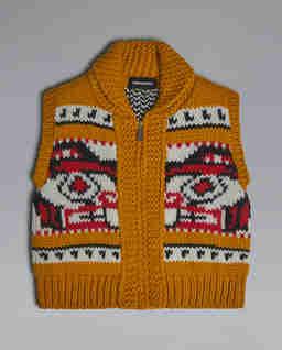 Rozpinany sweter bez rękawów 4-12 lat