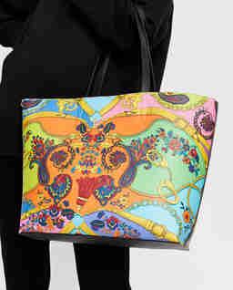 Kolorowa torba ze skóry ekologicznej