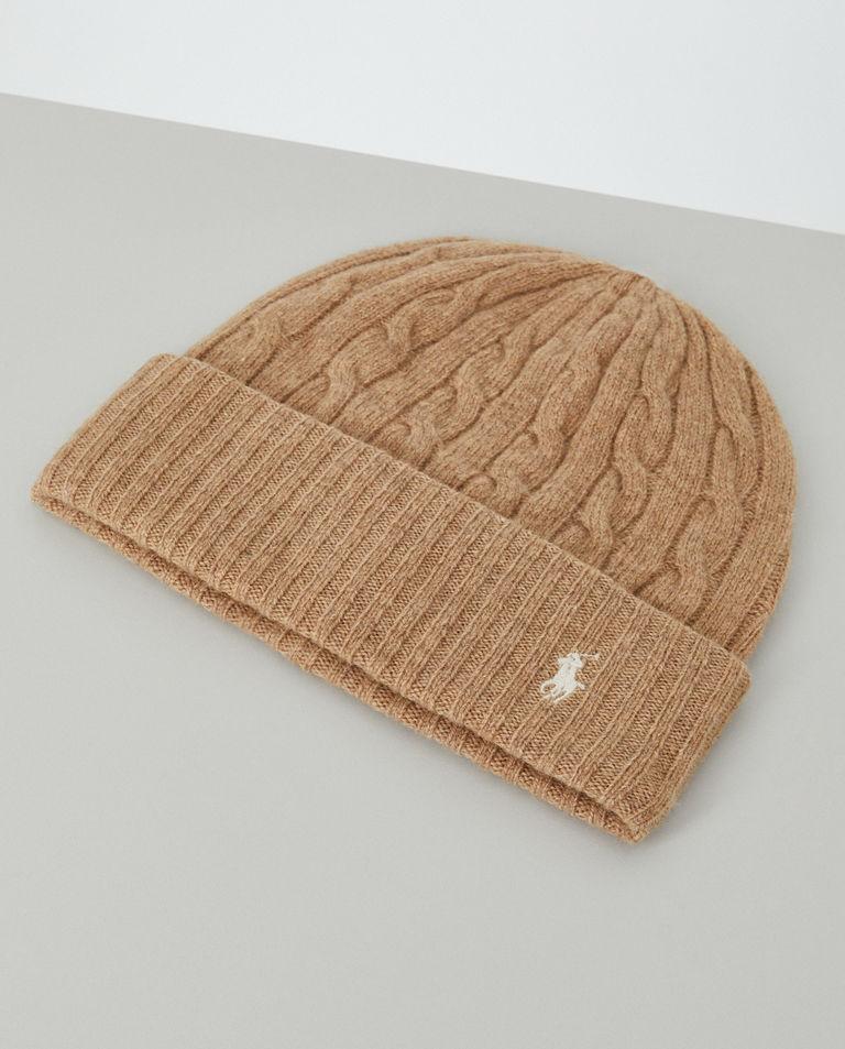 Beżowa czapka z wełny Polo Ralph Lauren
