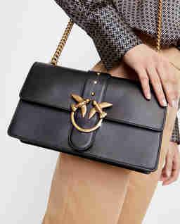 Czarna torebka z jaskółkami Love Classic Icon