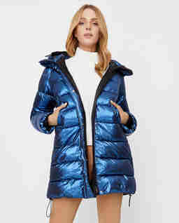 Niebieska pikowana kurtka Lisotte