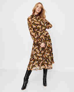 Wzorzysta sukienka z zorżety Epopea