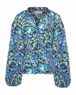 Niebieska koszula w kwiaty Demi