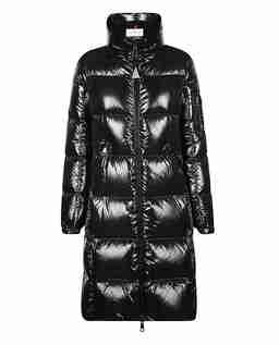 Czarny płaszcz puchowy Moyadons