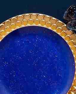 Zestaw czterech talerzy deserowych Lapis