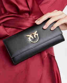 Czarny portfel ze skóry Gemito