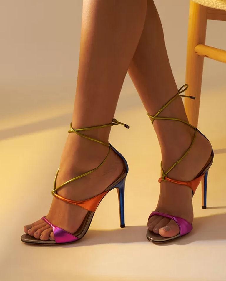 Kolorowe sandały na szpilce Aimee Alexandre Birman