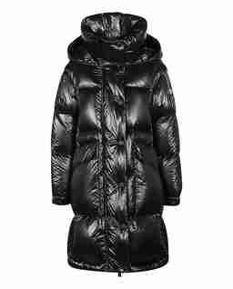 Czarny płaszcz puchowy Entreves