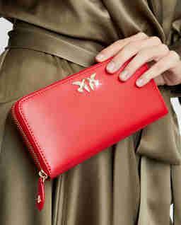 Czerwony portfel ze skóry Ryder Simply