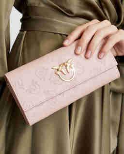 Różowy portfel z jaskółkami Garrito