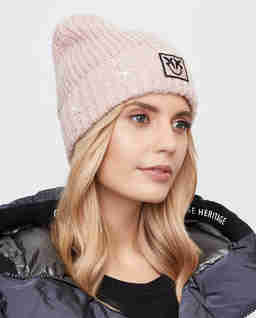 Różowa czapka z logo Terra