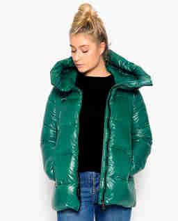 Zielona pikowane kurtka