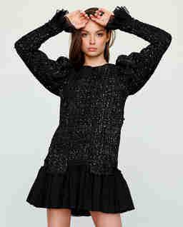 Sukienka tweedowa z cekinami Athena