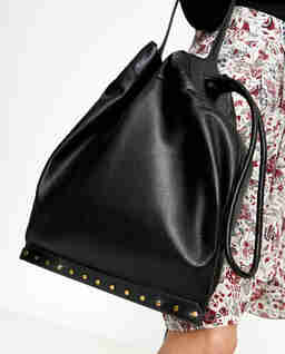 Czarna torebka ze skóry Sanky