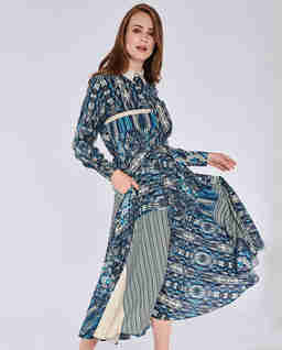 Sukienka maxi z dodatkiem jedwabiu Sorento