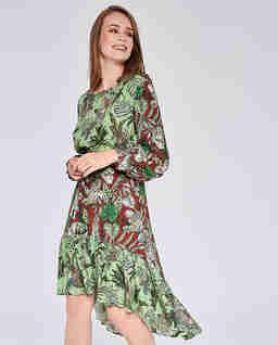 Asymetryczna sukienka midi Almeria
