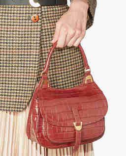 Czerwona torba ze skóry Fauve Mini