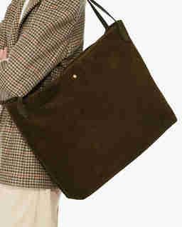 Ciemnozielona torba ze skóry zamszowej Cocci