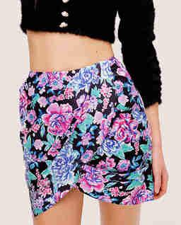 Błękitna spódnica w kwiaty Morgan