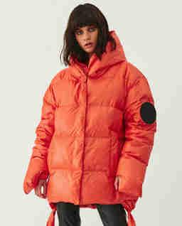 Pomarańczowa kurtka z logo Jesso