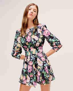 Czarna sukienka w kwiaty Shiloh
