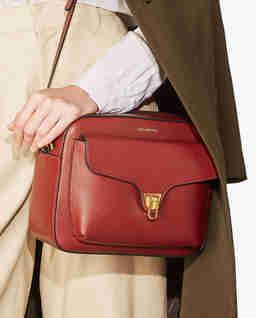 Czerwonobrązowa torebka na ramię Beat