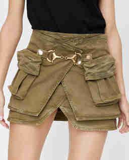 Krótka spódnica w kolorze khaki