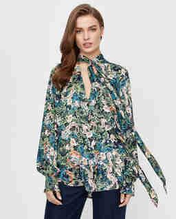 Kolorowa koszula w kwiecisty wzór Fresco