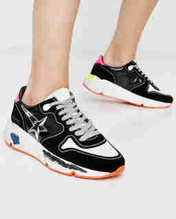 Czarne sneakersy Running Sole