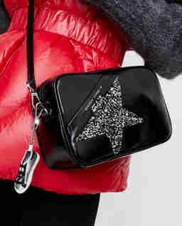 Czarna torebka Star z kryształami Swarovskiego