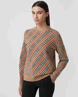 Wełniany sweter w paski