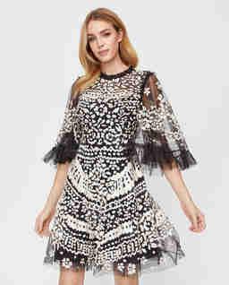 Tylové šaty s flitry  Anais