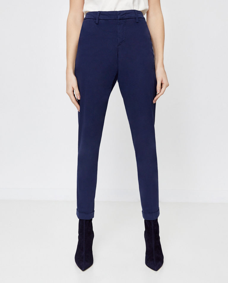 Granatowe spodnie chino Fay