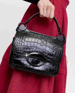 Czarna torebka z okiem Tali