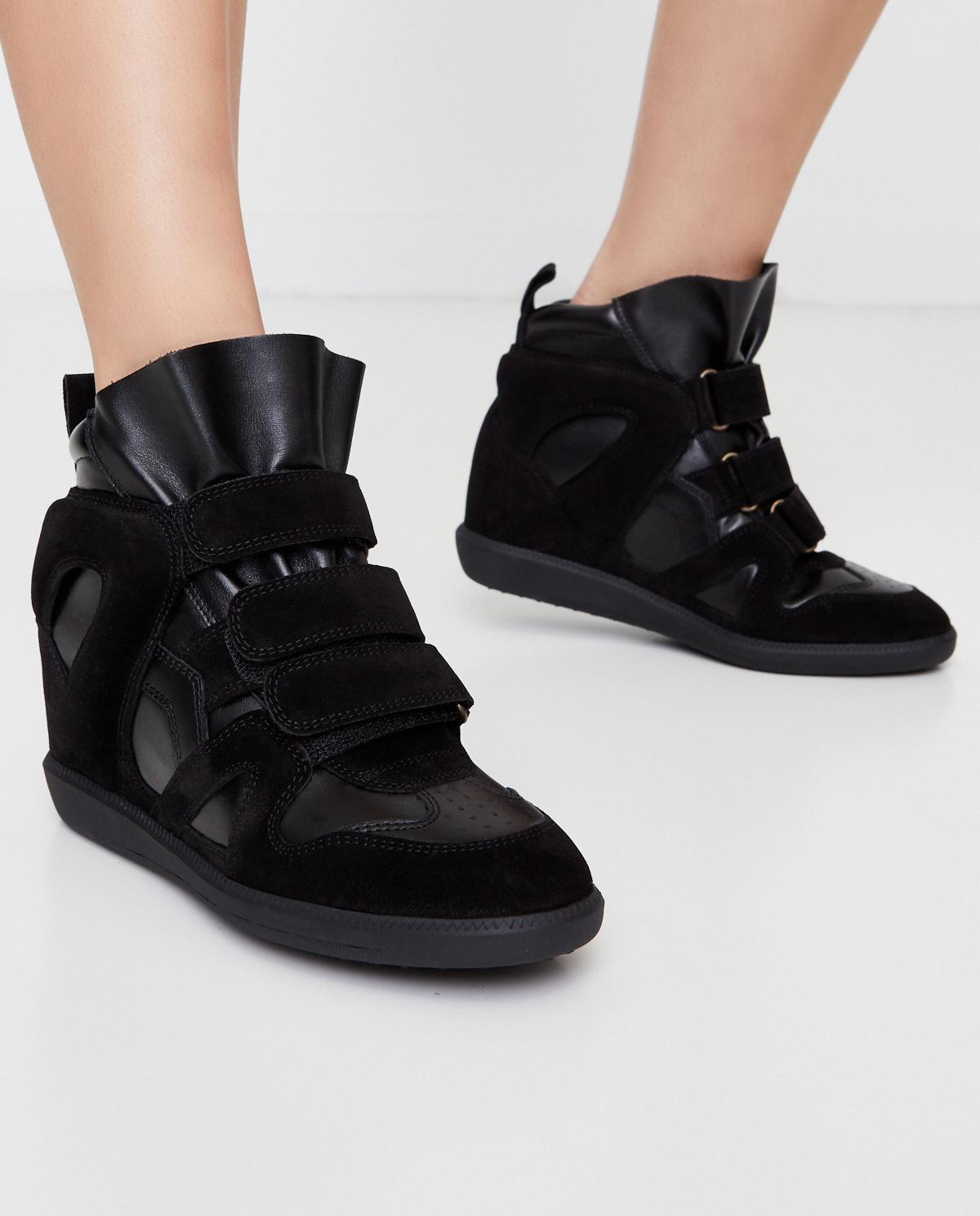 Damskie Skorzane Sneakersy Buckee Na Ukrytym Koturnie 5 Cm Isabel Marant Cena I Opinie Sklep Internetowy Moliera2 Com
