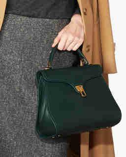 Zielona torba ze skóry Marvin Medium