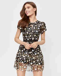 Warstwowa sukienka mini